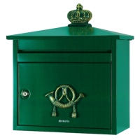 BRABANTIA B210 Classic Style Post Box Green (discontinued by Mfr.)