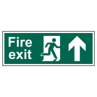 ASEC Fire Exit Arrow Direction Sign 400mm x 150mm Up