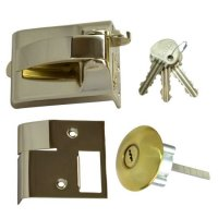 Ingersoll RA73 & SC73 Fire Escape Nightlatch 60mm PB Boxed