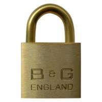 B&G Warded Brass Open Shackle Padlock - Brass Shackle 38mm KD - D102B