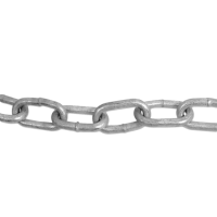 ENGLISH CHAIN Hot Galvanised Welded Steel Chain 5mm GALV 10m