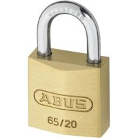 ABUS 65 Series Brass Open Shackle Padlock 20mm Twin Pack 65/20 Visi