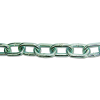 ENGLISH CHAIN Zinc Plated Welded Steel Chain 25m Chain - 5mm Link Diameter - ZP