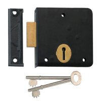 UNION 1139 3 Lever Rim Deadlock 102mm BLK RH