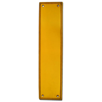 ASEC Georgian 73mm Wide Polished Brass Finger Plate 305mm PB