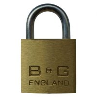 B&G Warded Brass Open Shackle Padlock - Steel Shackle 32mm KD - D101