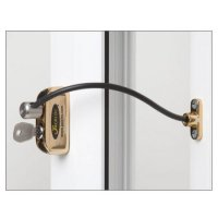 JACKLOC Lockable Cable Window Lock Brass