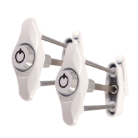 SASHSTOP Original Sash Stopper - Keyed Alike Pair White
