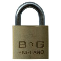 B&G Warded Brass Open Shackle Padlock - Steel Shackle 38mm KA `D4` - D102