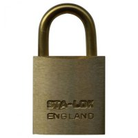 B&G STA-LOCK C Series Brass Open Shackle Padlock - Brass Shackle 25mm KD - C100BS