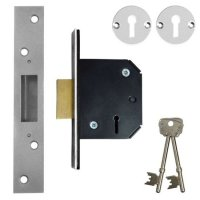 WILLENHALL LOCKS M1 5 Lever Deadlock 64mm SC KD Boxed