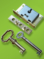 2'' Box Lock No.20B - Brass Key