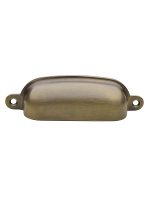 Antique BN-3 Large Forged Brass Bin Pull