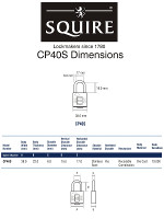 Squire CP40S Rustproof Marine Combination Padlock