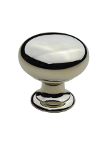 K-12 25mm Classic Kitchen Knob Polished Nickel Finish