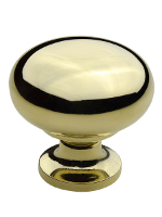 K-12 32mm Classic Kitchen Knob Polished Brass Finish