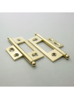 Bright Brass Non Mortised Hinge 79mm (3 1/8'')