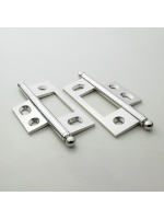 Polished Nickel Non Mortised Hinge 79mm (3 1/8'')