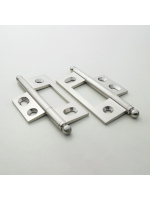 Satin Nickel Non Mortised Hinge 79mm (3 1/8'')