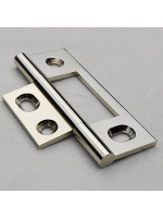 Flat Top Polished Nickel Non Mortised Hinge 79mm (3 1/8'')