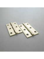 Precision Polished Brass Butt Hinge 64mm (2 1/2'')