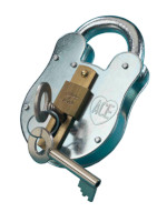 S1287 38mm Old English Padlock - Bush and Slide
