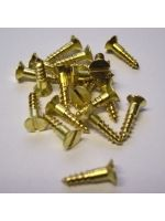 20 x Slotted Countersunk Brass Woodscrews 2 x 3/8''