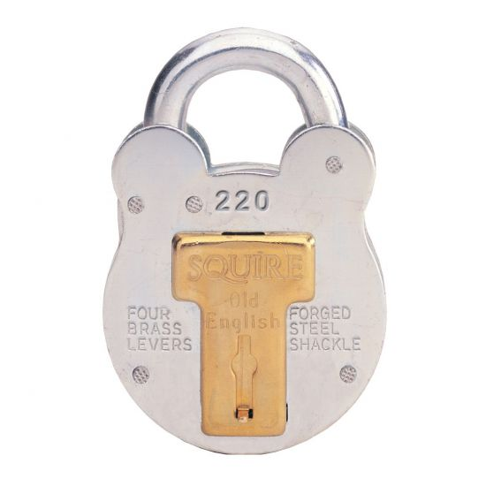 Squire 220, 440 & 660 Old English Padlock 38mm KD Visi