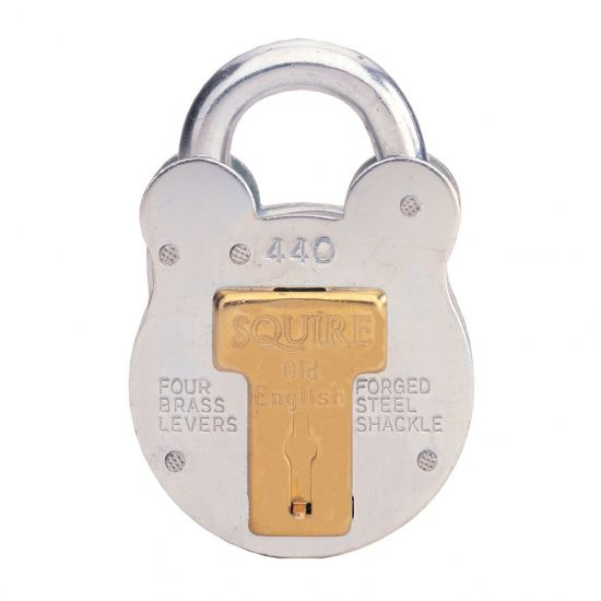 Squire 220, 440 & 660 Old English Padlock 50mm KD Visi