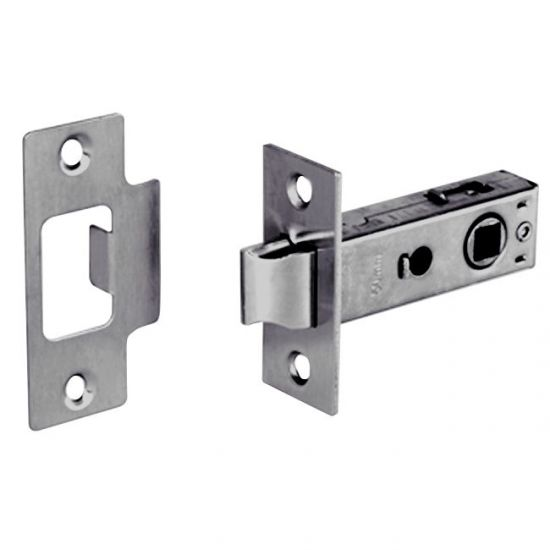 ASEC Bolt Through Tubular Mortice Latch ZP 63mm