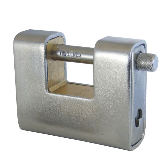 ASEC Steel Sliding Shackle Padlock 90mm KD Visi