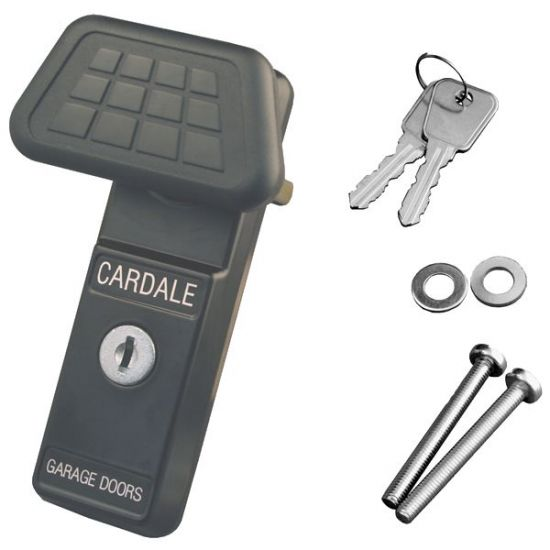 CARDALE CAR0065 Eurolock Complete Garage Door Handle Black