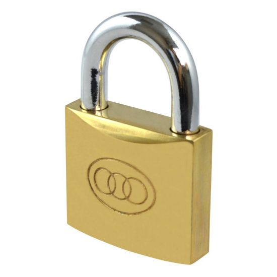 Tricircle 26 Series Brass Open Shackle Padlocks 50mm KD Boxed