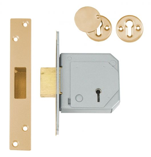 UNION C-Series 3G114E BS 5 Lever Deadlock 67mm PB KD Trade Pack (20) Boxed