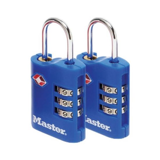 MASTER LOCK 4686 Pair Of Combination Luggage Padlocks KA Visi (discontinued by Mfr.)