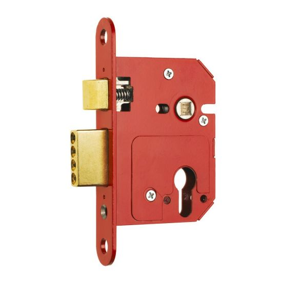 ERA 334 Fortress Fortress BS BS Euro Keyless Egress Key & Turn Sashlock With Cylinder 76mm PB Boxed