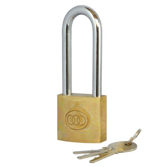 Tricircle 26 Series Brass Long Shackle Padlocks 50mm KD Boxed