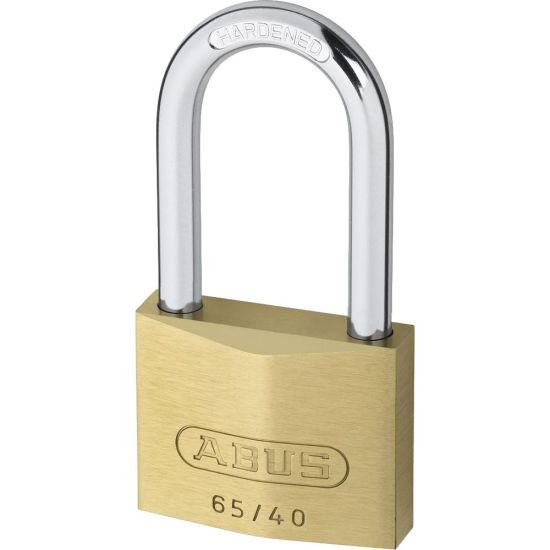 ABUS 65 Series Brass Long Shackle Padlock 40mm KD 40mm Shackle 65/40HB40 Boxed