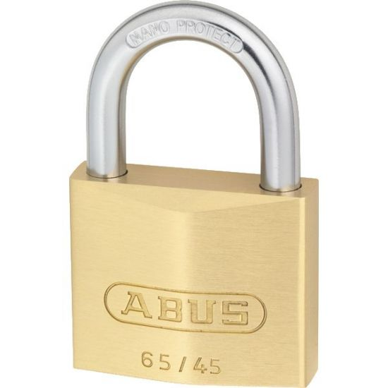 ABUS 65 Series Brass Open Shackle Padlock 45mm KD 65/45 Boxed
