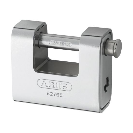 ABUS 92 Series Steel Clad Brass Sliding Shackle Shutter Padlock 78mm KD 92/80 Boxed