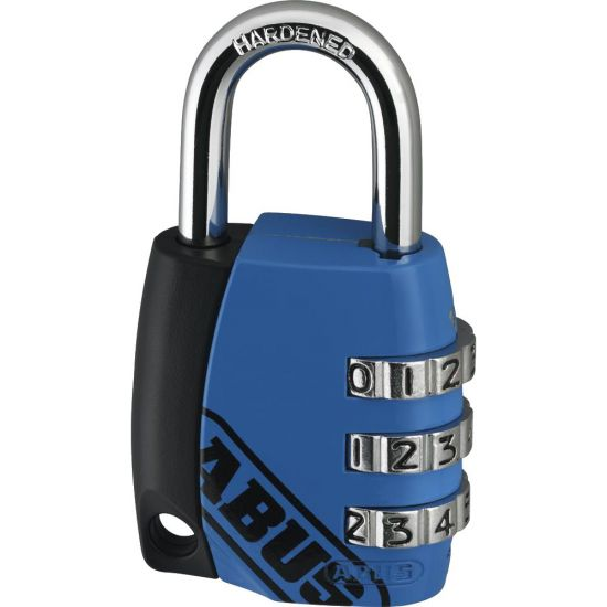 ABUS 155 Series Combination Open Shackle Padlock 34mm Assorted Colours 155/30 Visi