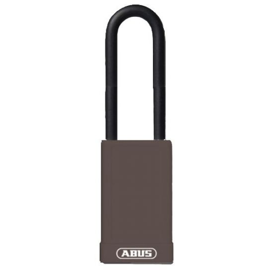 ABUS 74HB Series Long Shackle Lock Out Tag Out Coloured Aluminium Padlock Brown
