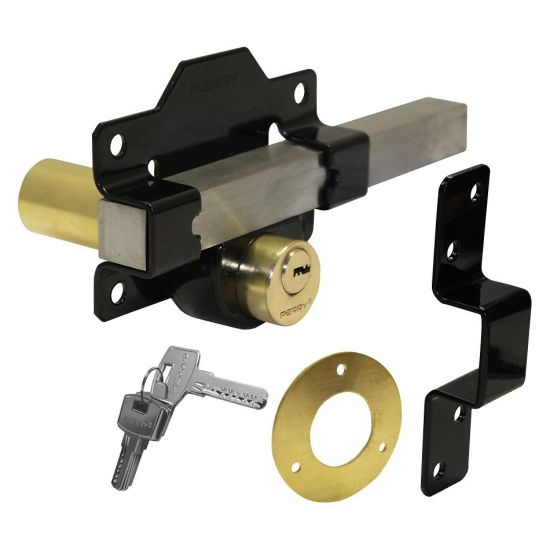 A PERRY Double Locking Long Throw Gate Lock 50mm Double Locking