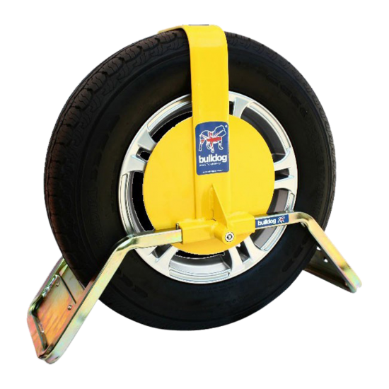 BULLDOG QD Series Wheel Clamp To Suit Caravans & Trailers QD22Y Suits Tyres 155mm Width 330mm Rim Diameter