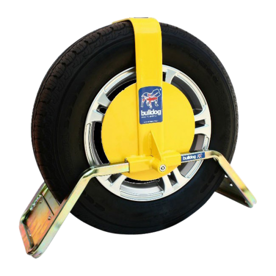 BULLDOG QD Series Wheel Clamp To Suit Caravans & Trailers QD34 Suits Tyres 185mm Width 330mm Rim Diameter