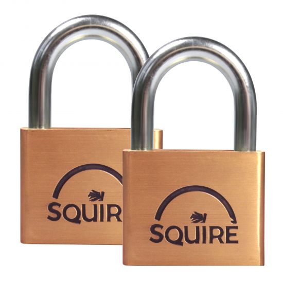 SQUIRE Lion Brass Open Shackle Padlock KA 50mm Pack of 2 LN5T