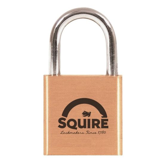 SQUIRE Lion Brass Open Shackle Padlock KA 30mm KA2 LN3 KEY NO. 24342