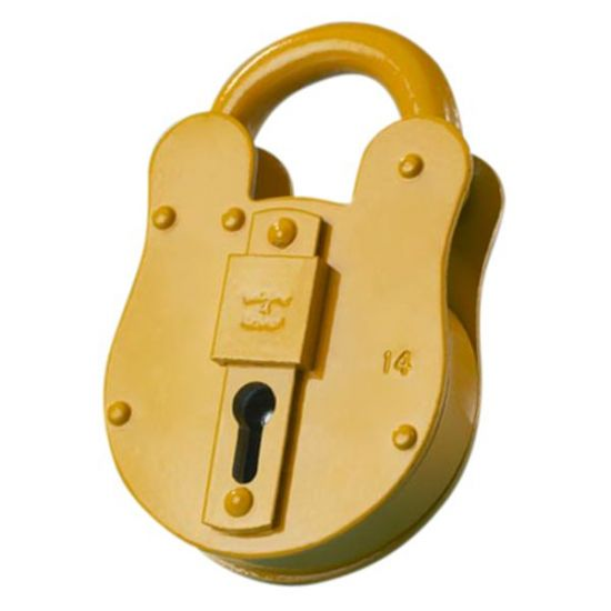 WALSALL LOCKS FB Old English Padlock FB14 67mm Yellow KA