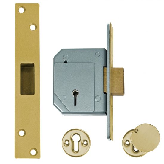 UNION C-Series 3G114 5 Lever Deadlock 67mm PB KD Trade Pack (20) Boxed