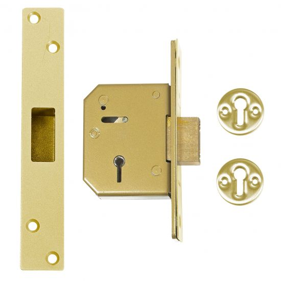 UNION C-Series 3G115 5 Lever Deadlock 67mm PB KD Trade Pack (20) Boxed